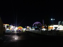 An outside view of the fair.